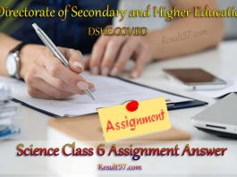Science (Biggan) Class 6 Assignment Answer 5th Week